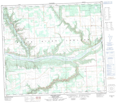 094A01 Shearer Dale Canadian topographic map, 1:50,000 scale