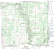 094A10 Rose Prairie Canadian topographic map, 1:50,000 scale from British Columbia Map Store