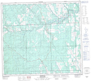 094A11 Murdale Canadian topographic map, 1:50,000 scale from British Columbia Map Store