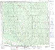 094A12 Deadhorse Creek Canadian topographic map, 1:50,000 scale from British Columbia Map Store