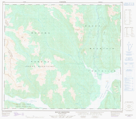 094B03 Mount Brewster Canadian topographic map, 1:50,000 scale