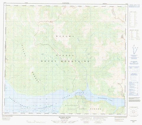 094B04 Wicked River Canadian topographic map, 1:50,000 scale