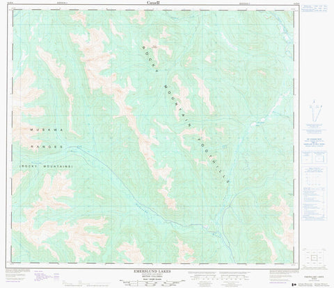094B06 Emerslund Lakes Canadian topographic map, 1:50,000 scale