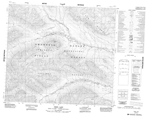 094C05 Aiken Lake Canadian topographic map, 1:50,000 scale