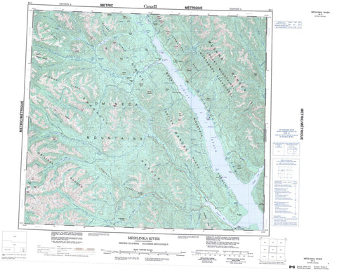 094C Mesilinka River Canadian topographic map, 1:250,000 scale