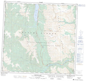 094K13 Muncho Lake Canadian topographic map, 1:50,000 scale from British Columbia Map Store