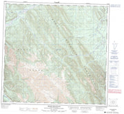 094K15 Stone Mountain Canadian topographic map, 1:50,000 scale from British Columbia Map Store