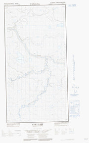 094P11W Etset Lake Canadian topographic map, 1:50,000 scale from British Columbia Map Store