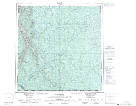 095B Fort Liard Canadian topographic map, 1:250,000 scale