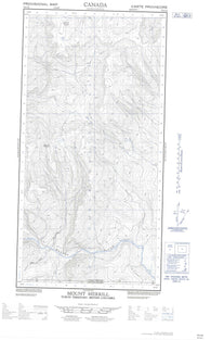 095C02E Mount Merrill Canadian topographic map, 1:50,000 scale