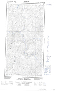 095C02W Mount Merrill Canadian topographic map, 1:50,000 scale