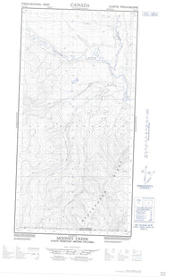 095C03E Mooney Creek Canadian topographic map, 1:50,000 scale