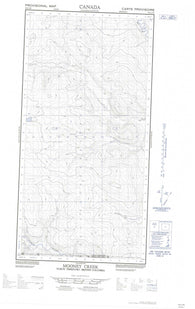 095C03W Mooney Creek Canadian topographic map, 1:50,000 scale
