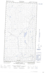 095C04E Larsen Lake Canadian topographic map, 1:50,000 scale