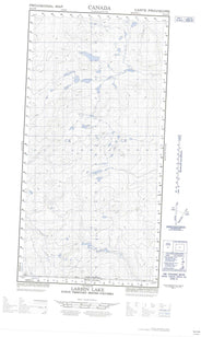 095C04W Larsen Lake Canadian topographic map, 1:50,000 scale