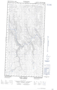095C05E Pool Creek Canadian topographic map, 1:50,000 scale