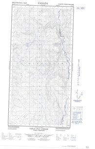 095C06E Gold Pay Creek Canadian topographic map, 1:50,000 scale
