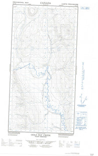 095C06W Gold Pay Creek Canadian topographic map, 1:50,000 scale