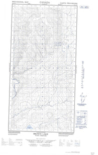 095C07W Brown Lake Canadian topographic map, 1:50,000 scale