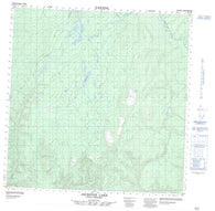 095C12 Jackpine Lake Canadian topographic map, 1:50,000 scale