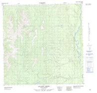 095D05 Acland Creek Canadian topographic map, 1:50,000 scale