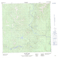 095D12 Hulse Lake Canadian topographic map, 1:50,000 scale