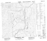 095E01 Stonemarten Lakes Canadian topographic map, 1:50,000 scale from Northwest Territories Map Store