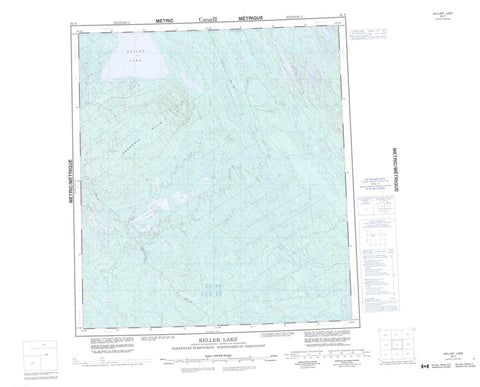 095P Keller Lake Canadian topographic map, 1:250,000 scale