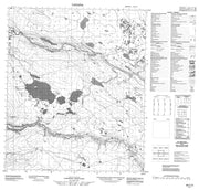 096C16 No Title Canadian topographic map, 1:50,000 scale from Northwest Territories Map Store