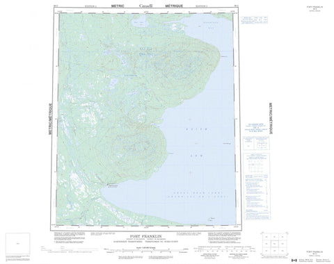 096G Fort Franklin Canadian topographic map, 1:250,000 scale