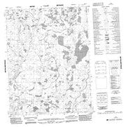 096P08 No Title Canadian topographic map, 1:50,000 scale from Northwest Territories Map Store