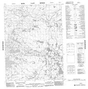 096P11 No Title Canadian topographic map, 1:50,000 scale from Northwest Territories Map Store