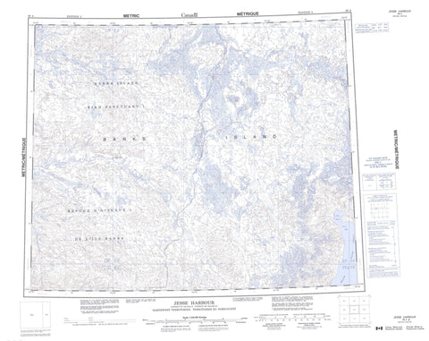 098A Jesse Harbour Canadian topographic map, 1:250,000 scale