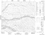 098E04 No Title Canadian topographic map, 1:50,000 scale from Northwest Territories Map Store