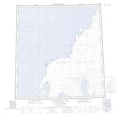099A Hardinge Bay Canadian topographic map, 1:250,000 scale