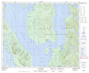 103H03 Gil Island Canadian topographic map, 1:50,000 scale from British Columbia Map Store