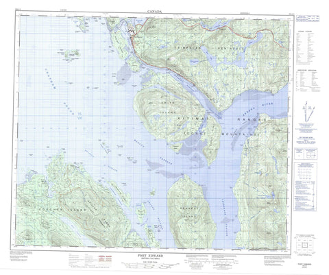 103J01 Port Edward Canadian topographic map, 1:50,000 scale