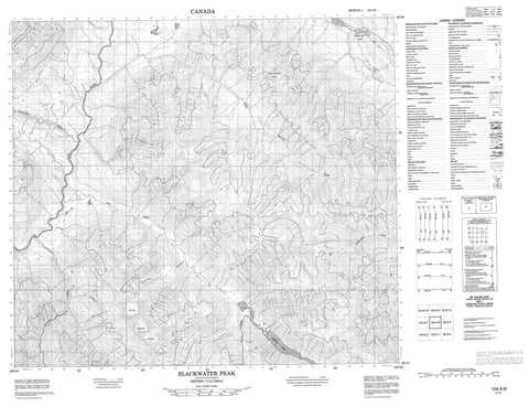 104A08 Blackwater Peak Canadian topographic map, 1:50,000 scale