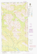 104A09E Damdochax Lake Canadian topographic map, 1:50,000 scale from British Columbia Map Store