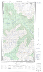 104B16E Bob Quinn Lake Canadian topographic map, 1:50,000 scale from British Columbia Map Store