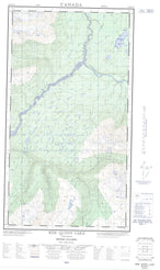 104B16W Bob Quinn Lake Canadian topographic map, 1:50,000 scale from British Columbia Map Store