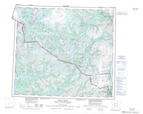 104B Iskut River Canadian topographic map, 1:250,000 scale