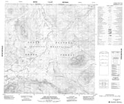 104P13 One Ace Mountain Canadian topographic map, 1:50,000 scale from British Columbia Map Store