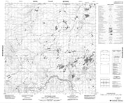 104P14 Old Faddy Lake Canadian topographic map, 1:50,000 scale from British Columbia Map Store