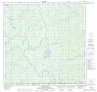 105A01 Blind Lake Canadian topographic map, 1:50,000 scale