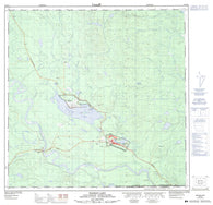105A02 Watson Lake Canadian topographic map, 1:50,000 scale