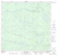 105A03 Dodo Lakes Canadian topographic map, 1:50,000 scale