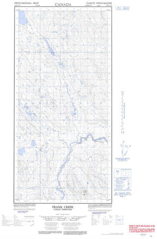 105E11E Frank Creek Canadian topographic map, 1:50,000 scale
