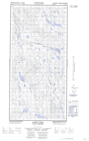 105E12E Twin Lakes Canadian topographic map, 1:50,000 scale