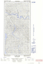 105E14E Claire Lake Canadian topographic map, 1:50,000 scale from Yukon Map Store